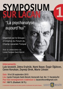 affiche symposium Lacan Istanbul 19 & 20 septembre15