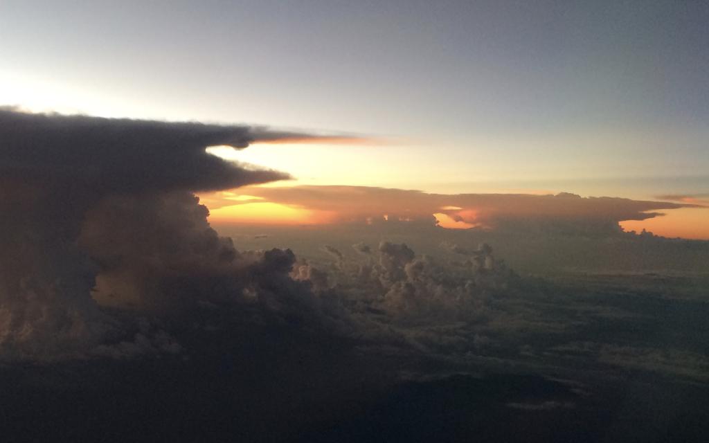 Nuages au dessus de la Colombie